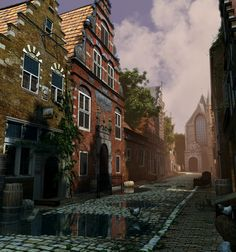 ArtStation - Golden Age of Holland 'West street', rob tuytel