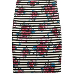 Bridget Printed Pencil Skirt by Papermoon (Stitch Fix Exclusive). Love the black/white stripes and the background floral print - very unusual and outside my normal comfort zone. Love the textured fabric. This is also lined. Received a size S which is too big, XS not available. Kept the too big small. Received in Fix #16. KEPT. Price $64, with keep all discount $48.
