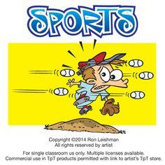 Sports cartoon clipart for teachers