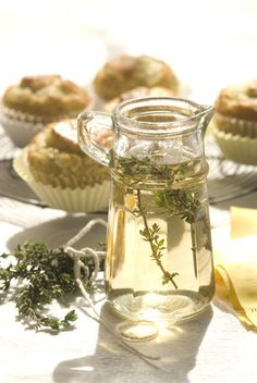 How to Make an Herbal Syrup—wonderful for flavor; add them in place of the liquid in cakes, pie fillings and sorbets, or drizzle on fruit or fresh-out-of-the-oven cakes, muffins and breads