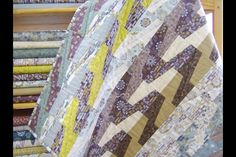 Gorgeous Lewis and Irene Honey Meadow quilt seen at Leven Crafts. I am going to make this for my Mum