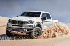 image of BMW pickup truck rendering 750x500