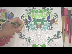 A Time Lapsed Tutorial On How To Use Color Pencils The Image Used For This Secret Garden Coloring BookColoring