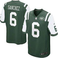 Elite Youth Nike New York Jets #6 Mark Sanchez Team Color Green NFL Jersey $79.99