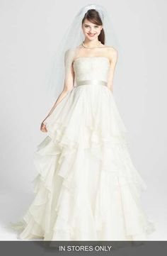 Watters 'Brooke' Washed Silk Organza Ballgown (In Stores Only)