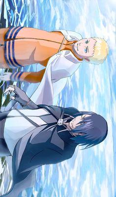 Naruto & Sasuke all grown up. They look awesome Sasunaru, Madara Uchiha, Narusasu, Naruhina, Kakashi, Anime Naruto, Naruto Teams, Naruto Sasuke Sakura, Naruto Shippuden Anime