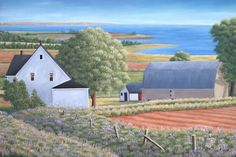 PEI Artist - Lighthouse Paintings - East Coast Paintings Lighthouse Painting, Prince Edward Island, Canadian Artists, Artist At Work, East Coast, Art Ideas, Canada, Paintings, Create