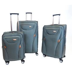 Sheldon 3 Piece Luggage Set Color Grey ** More info could be found at the image url.