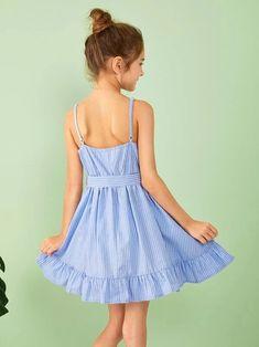 Source by arcadebits Dresses Girls Fashion Clothes, Girl Fashion, Girl Outfits, Fashion Outfits, Cute Dresses, Girls Dresses, Summer Dresses, Slip Dresses, Cord Pinafore Dress
