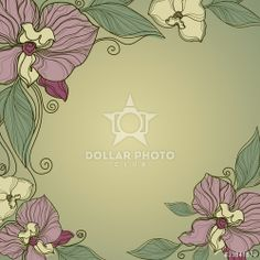 colors and design http://www.dollarphotoclub.com/stock-photo/Vector vintage frame with flowers - orchid/33841578 Dollar Photo Club millions of stock images for $1 each