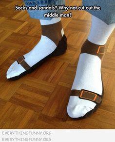 Silly Socks - Socks that look like Sandals