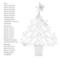 embroidery stitching christmas tree diagram - Google pretraživanje