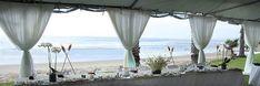 Tented beach wedding reception. Sahilde bir düğün.