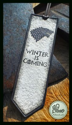 Game of Thrones leather bookmark casate handmade handmade bookmark Game of thrones house targaryen martell stark winter is coming (29.00 EUR) by AlteoShop
