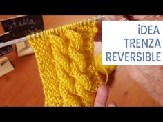 Tejer una trenza reversible, ideal para tejer una manta 💡Ideas Lucila - YouTube Easy Knitting, Knitting For Beginners, Knitting Stitches, Knitting Patterns, Tunisian Crochet, Knit Crochet, Crochet Simple, Sewing To Sell, Amigurumi Tutorial