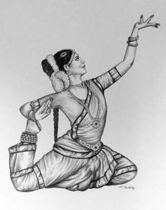 Sunny Sistems The Art Gallery Pencil Drawing Images, Pencil Sketch Portrait, Pencil Sketches Easy, Girl Drawing Sketches, Doodle Art Drawing, Girly Drawings, Kerala Mural Painting, Indian Art Paintings, Dancing Drawings