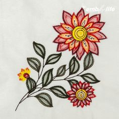 Stylized Flower (Rippled) Designs for Embroidery Machines Flower Embroidery Designs, Machine Embroidery Designs, Embroidery Machines, Janome, Bordado Floral, Computerized Embroidery Machine, Crewel Embroidery, Border Design, Floral Rug