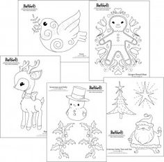 Christmas embroidery pattern free download from Bad Bird blog.   So cute!
