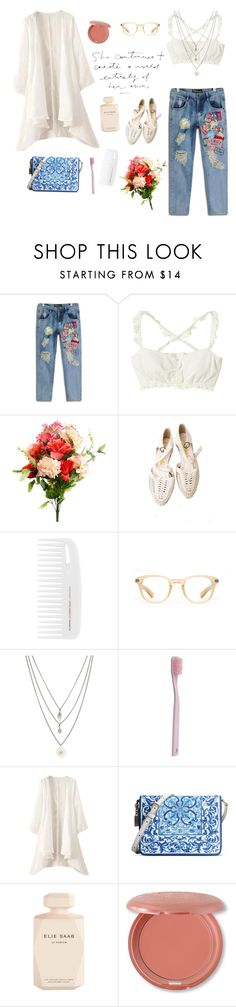 """""""Moroccan Street"""" by mo-onstruck ❤ liked on Polyvore featuring Oliver Peoples, Orelia, Paul Smith, Dolce&Gabbana, Elie Saab, Stila, Spring, casual and jeans"""