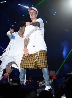 July 18: Photos of Justin Bieber performing at the Purpose Tour tonight in New York City, New York.