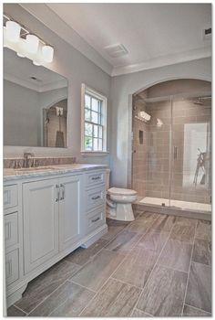 Transitional Bathroom with Rimless Undermount Bathroom Sink with SanaGloss Glazing by Toto, frameless showerdoor- master bathroom Bathroom Tile Designs, Bathroom Renos, Basement Bathroom, Bathroom Flooring, Bathroom Ideas, Bathroom Renovations, Modern Bathroom, Budget Bathroom, Bathroom Furniture