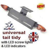 Universal tail tidy tailtidy with LED screw lights & spear LED indicators