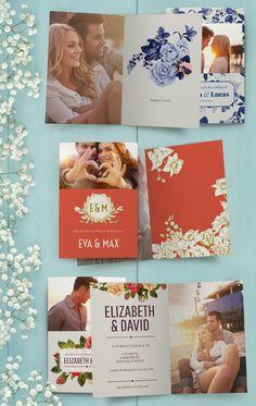 Ein Hochzeitkartenset mit Terminankündigungskarten, Einladungskarten und individualisierten Dankeskarten ist die perfekte Möglichkeit, Nachrichten jeder Art rund um den großen Tag zu verschicken.