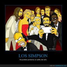 El selfie de los Simpson - No podían perderse el selfie del año