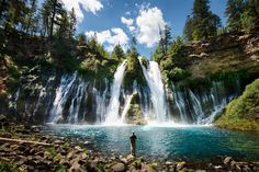 """Volcanic landscape meets vibrant foliage at McArthur-Burney Falls, the place Teddy Roosevelt called """"the eighth wonder of the world."""""""