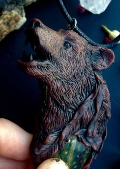 Bear Spirit Animal Bear Totem Hand Sculpted by FaceARTifacts