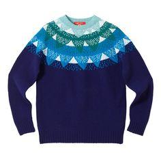 Mountain Peak Sweater - Indigo - Donna Wilson