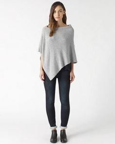 Italian made soft knit poncho, crafted with a touch of cashmere for a truly luxe feel. Asymmetric cut for an effortless relaxed look. Throw on over soft jersey layers, and vintage-wash denim for easy, off-duty style. This piece is part of the Jigsaw Essential range; designed with style, and crafted to last.