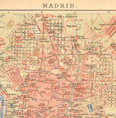 Mapa antiguo de Madrid 1902