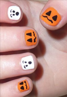 cute Halloween nails that are easy | Halloween Nail Art Designs