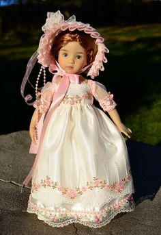 """SOLD """"Tea Time at the Manor""""Regency Gown,Dress,Clothes for 13""""Effner Little Darling"""