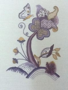 Jacobean Embroidery | You have to see Jacobean Embroidery on Craftsy!