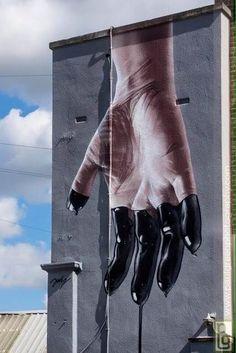 Photo realistic skills in a large format by Jody in UK - Discover more Street Art at www.UrbanArtNow.com - #StreetArt #UrbanArt #Graffiti #Mural