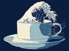 great wave / mug