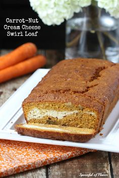 Carrot-Nut Cream Cheese Swirl Loaf