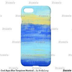 Cool Aqua Blue Turquiose Nautical Barely There iPhone 6 Case Iphone Case Covers, Phone Cases, Aqua Blue, Nautical, 6 Case, Cool Stuff, Iphone 8, Abstract Art, Beach