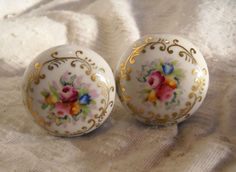 Beautiful Hand Painted Porcelain Door Knob | Antique/Vintage ...