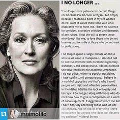 Empowering Life values by Meryl Streep - Worth Reading.