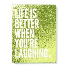 Life is Better Glitter Wall Canvas