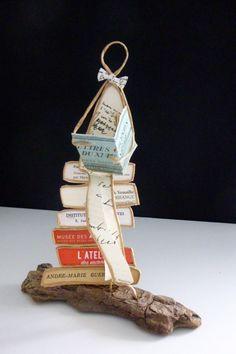 Le lecteur - figurine en ficelle et papier : Accessoires de maison par ficelleetpapier