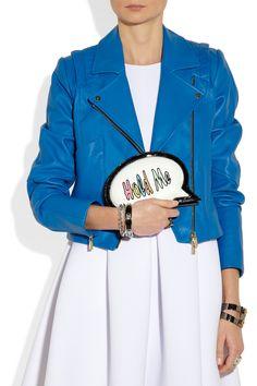 Sophia Webster|Hold Me Speech Bubble leather clutch|NET-A-PORTER.COM