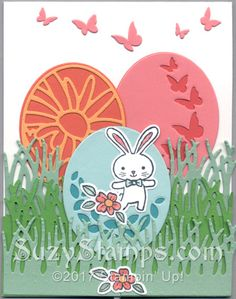 Stampin' Up! Easter Cards - 2017-03 Class - That's the Tag, Basket Bunch and Teeny Tiny Wishes stamp sets, Timeless Tags Thinlits and Basket Builder Framelits Dies