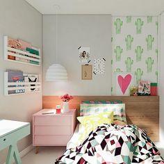 Projeto Manga! Quarto Candy Colors para nossa mini cliente Bruna! #mangarosaarquitetura