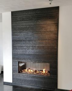 Fire Resistant Stone for Fireplace . Fire Resistant Stone for Fireplace . Modern Fireplace, Fireplace Wall, Fireplace Design, Fireplace Mantels, Fireplace Stone, Home Living Room, Interior Design Living Room, Charred Wood, Small Hallways