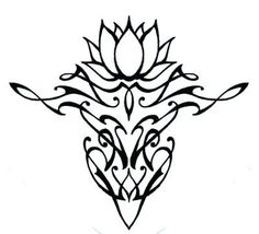 Simple Lotus Flower Tattoo Design.  But without all the designs on the bottom.