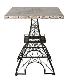 Look what I found on #zulily! Eiffel Tower Side Table #zulilyfinds. What a wonderufl table and a super price.